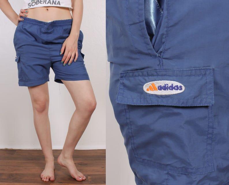 2e3a6735fd 80s Adidas Swim Shorts Vintage Blue Swimsuit Trunks Retro | Etsy