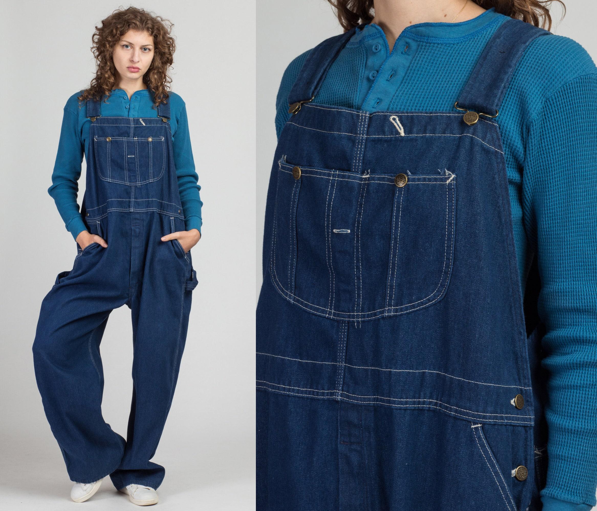 Vintage Overalls & Jumpsuits Vintage Sears Weartuff Overalls - Mens 2xl  80S Unisex Denim Bib Overall Pants Workwear Dungarees $34.95 AT vintagedancer.com