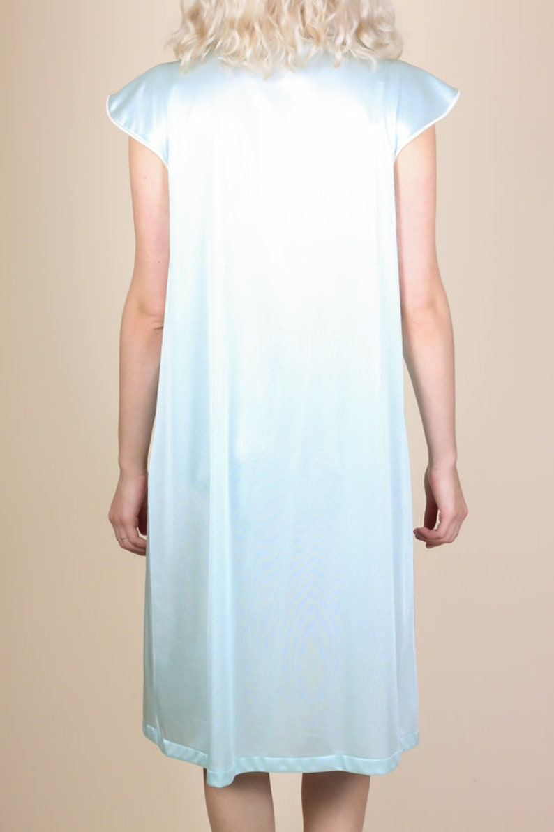 Vanity Fair Slip Nightdress Medium Vintage 60s 70s Blue Nightie