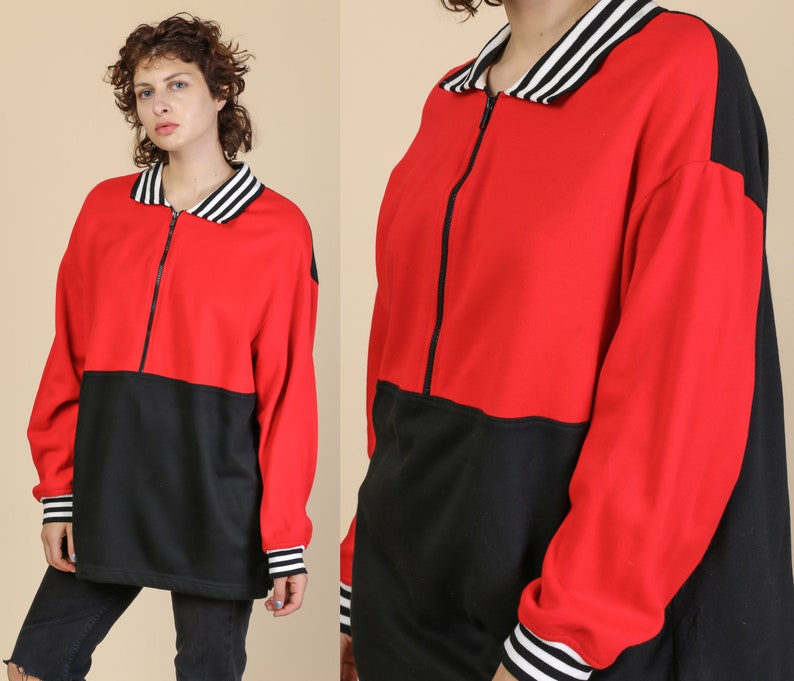 cb2ab89f3a171 90s Color Block Sweatshirt - XXL | Vintage Striped YS Casuals Streetwear  Pullover