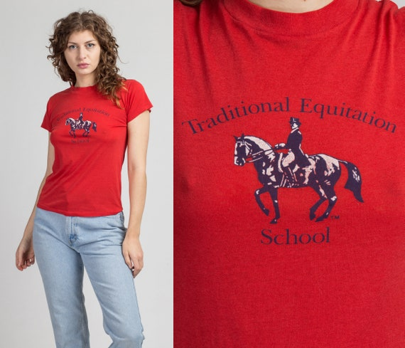 RESERVED 80s Traditional Equitation School Horseba
