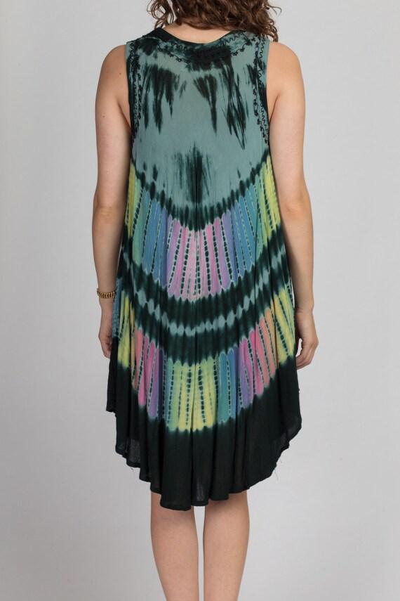 Vintage Boho Tie Dye Dress - One Size | 90s Y2K S… - image 5
