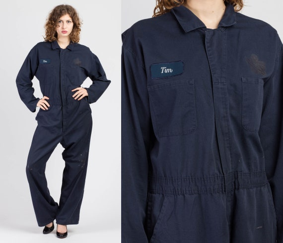 Vintage Workwear Utility Coveralls - 44R | 80s 90s