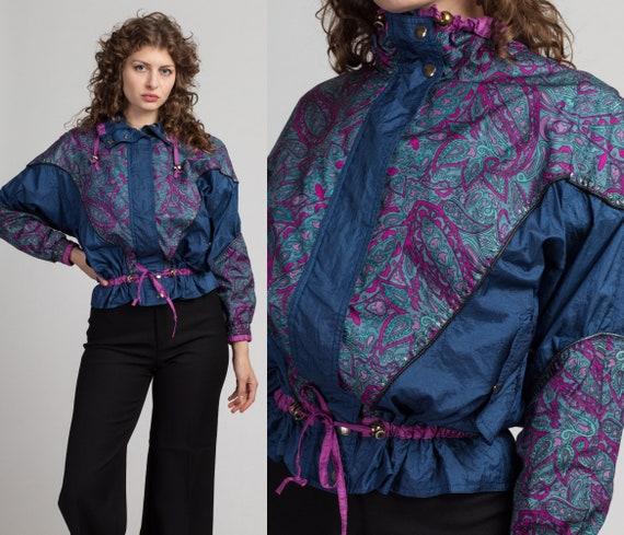 Vintage 80s Paisley Sweater Women/'s Medium