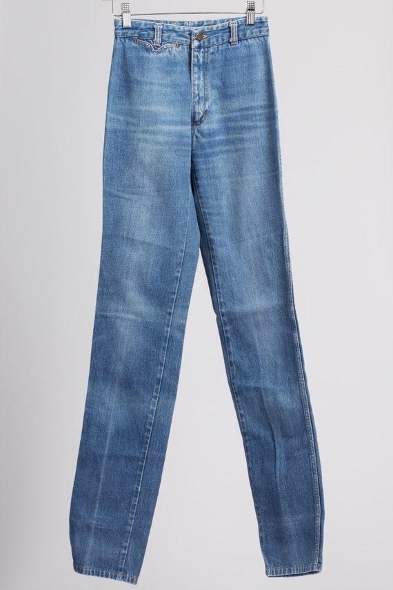 70s Chemin De Fer High Waist Jeans - XXS Long | V… - image 2