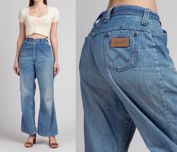 70s Flared High Waist Wrangler Jeans - Medium to L