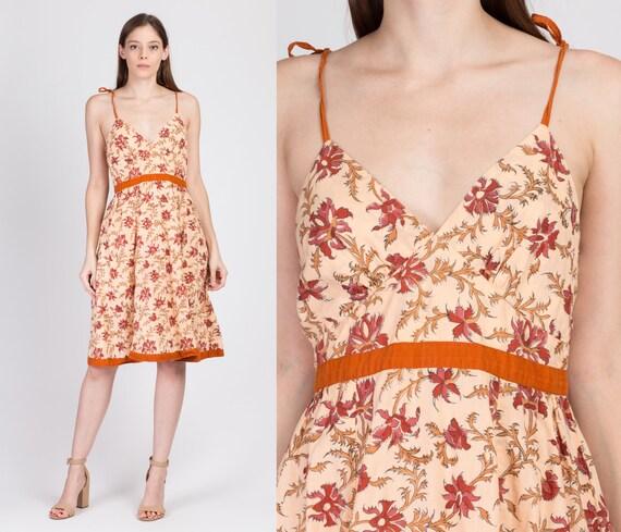 70s Fabindia Boho Floral Batik Sundress - Small |