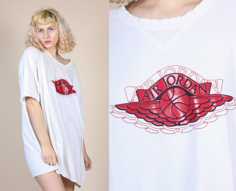 9e9da1406984aa 90s Air Jordan Wings Logo Shirt Mens 3XL Vintage Nike