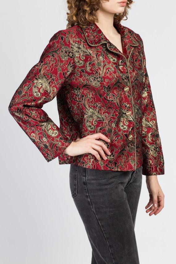 Denim And Lurex Brocade Jacket Size L