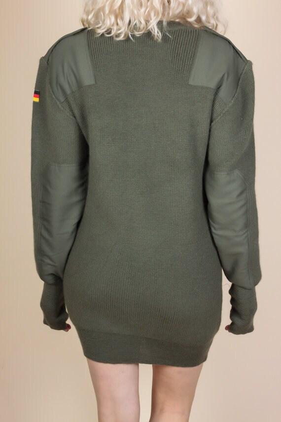 80 s allemand kaki kaki allemand armée pull - XL   Drapeau Vintage Patch vert militaire pull 518e88