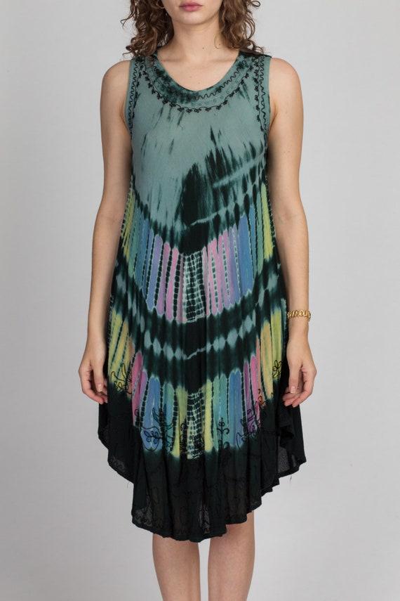 Vintage Boho Tie Dye Dress - One Size | 90s Y2K S… - image 2