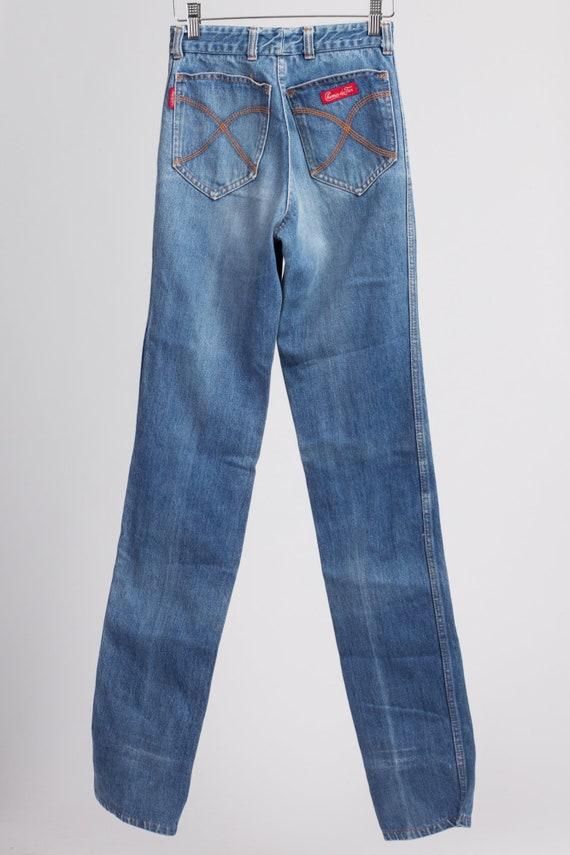 70s Chemin De Fer High Waist Jeans - XXS Long | V… - image 4