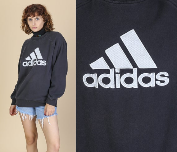 Pullover KleinSchwarz Weiß Shirt Herren Retro 00er Marke Logo Sweatshirt Jahre Streetwear Adidas shrdQt