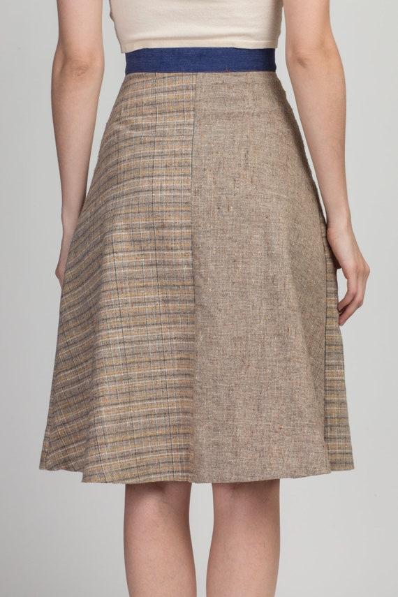 70s Pandora Boho Patchwork Skirt - Extra Small | … - image 5
