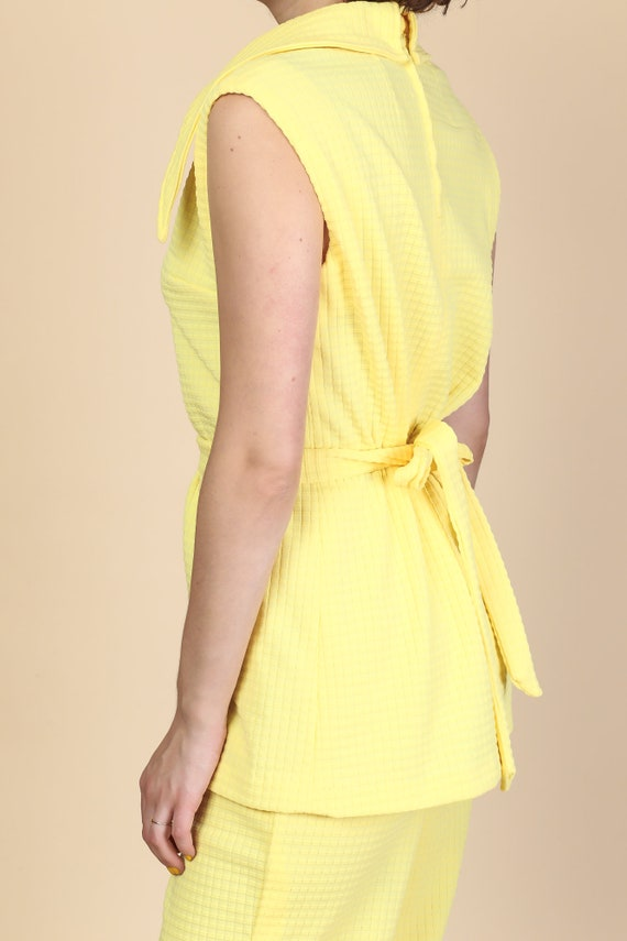 70s Mod Two Piece Outfit - Large | Vintage Yellow… - image 3