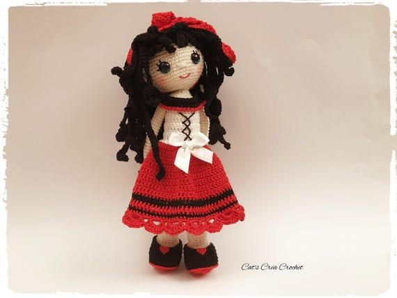 Amigurumi Puppe Häkeln Häkeln Puppe Lucille Modell Etsy