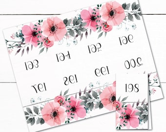 Reverse Number Tags - Mirrored Number Tags  - Live Sale Numbers - Floral Reverse Numbers - Rustic Reverse Numbers - Shabby Chic