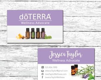 Doterra Business Card Wellness Advocate Business Card Etsy