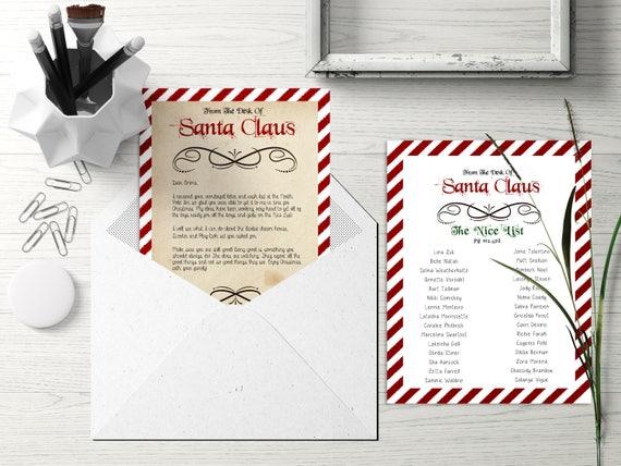 Santa letter santa nice list santa naughty list santa spiritdancerdesigns Images