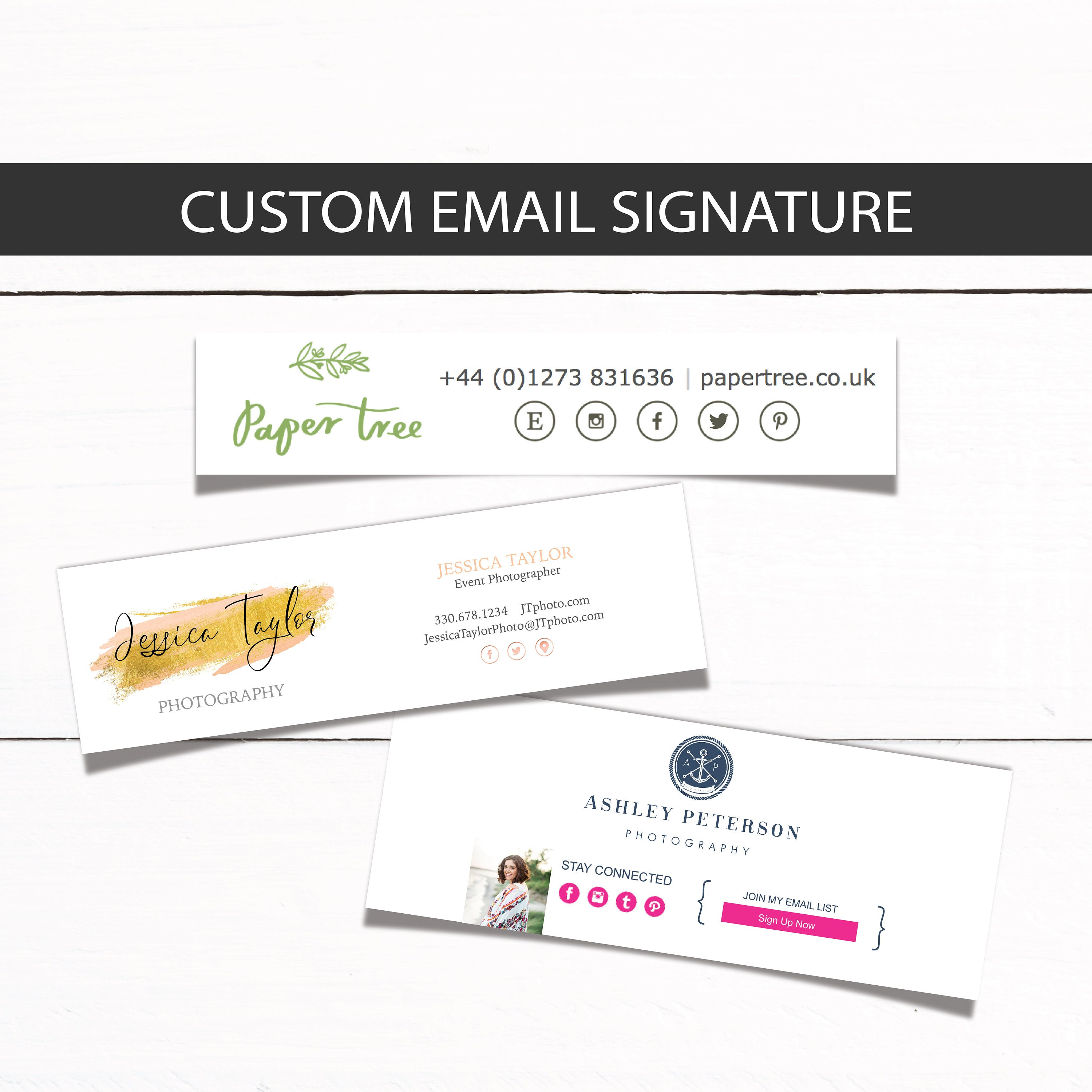 Email Signature Footer Template Custom Email Signature For