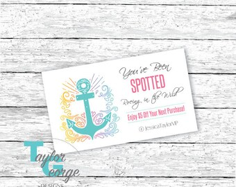 Spotted in the Wild card - Caught in Wild - Spotted Card - Anchor - home office approved - PDF - Printable - Cardstock - Marketing