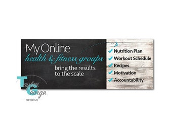 Health & Fitness Coach Challenge Group Facebook Cover Photo - Challenge Group Banner - Clean Eating Group Banner - Sneak Peek Banner - Coach