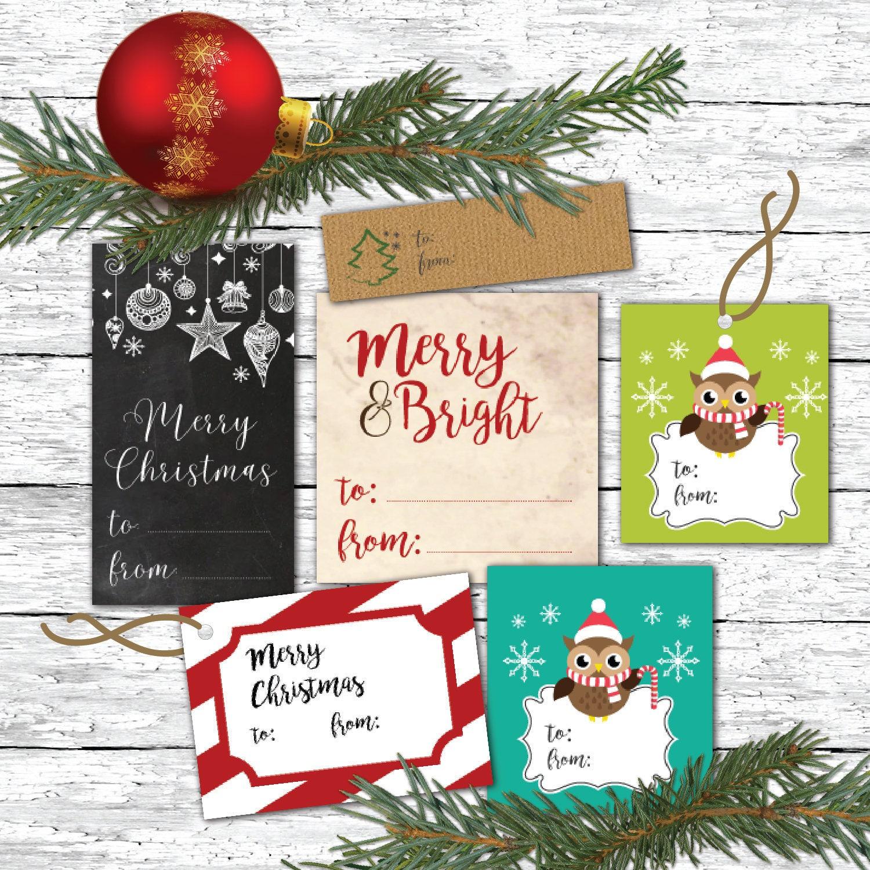 Weihnachten Geschenkanhänger druckbare Geschenkanhänger | Etsy
