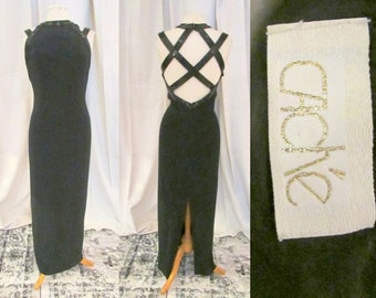 a53a4fa0e Cache Beaded Cage Back Evening Gown. L. Stunning Low Back Sexy Gown. Lined  Formal Gown. Stunning Red Carpet Maxi Dress.