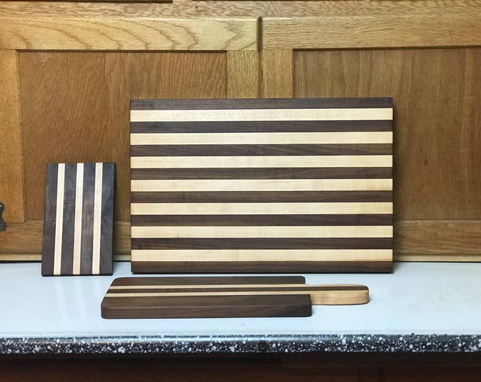 Hand Crafted Cutting Board, Bread Board, Cheese Board Set