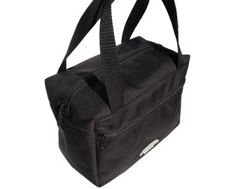 Black Insulated Zippered Lunch Bag