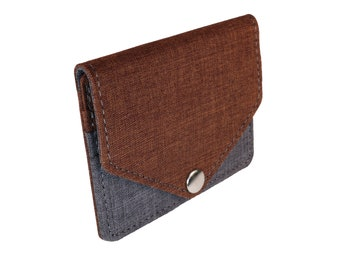Brown and Gray Snap Pouch