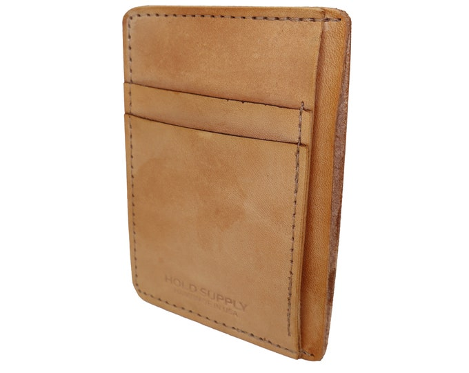 Tan Leather Front Pocket Wallet