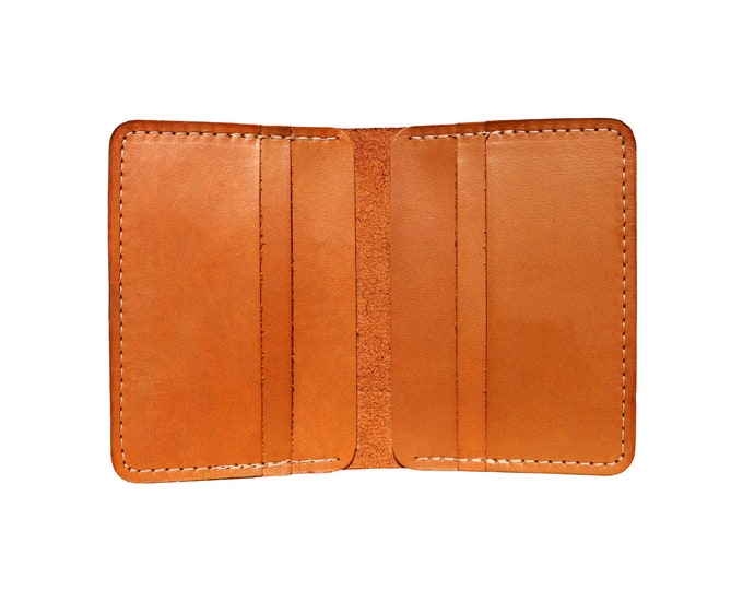 Brown Vertical Bifold Wallet