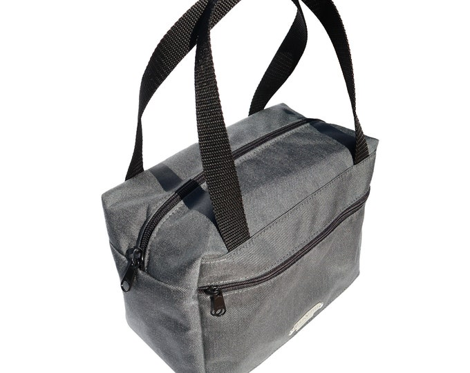 Gray Insulated Lunch Bag