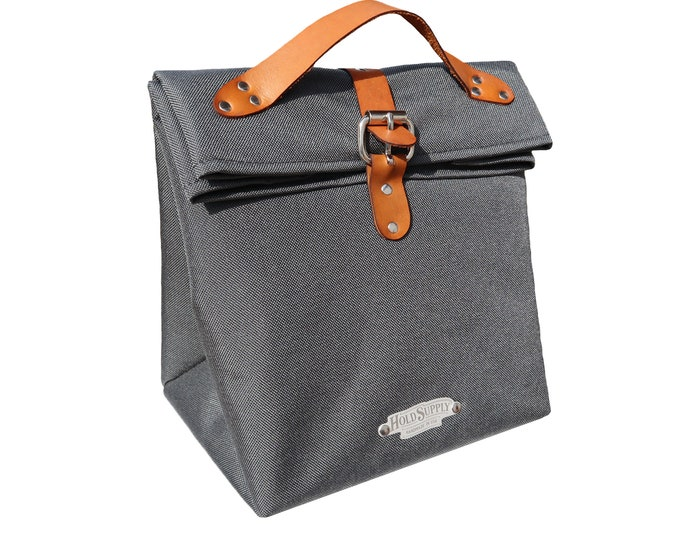 Insulated Fold Top Lunch Bag