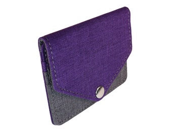 Purple and Gray Snap Pouch