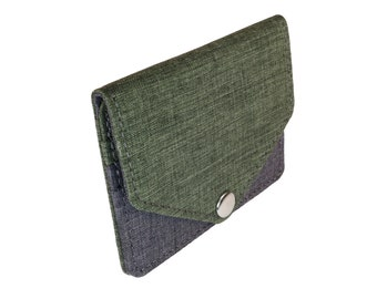 Green and Gray Snap Pouch