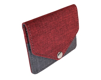 Red and Gray Snap Pouch