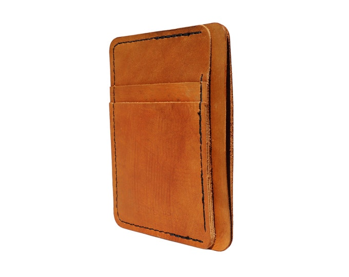 Brown Leather Front Pocket Wallet
