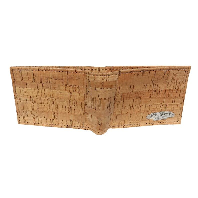 Men/'s Cork Bifold Wallet  Vegan Billfold Wallet Handmade in California by Hold Supply Co.