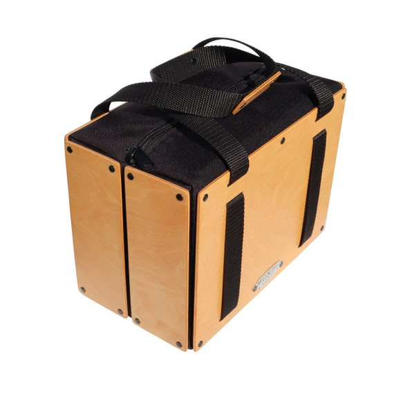 Insulated Wooden Lunch Bag, Men's / Women's Collapsible Wood Lunch Bag, Handmade in USA
