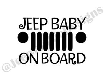 Jeep Baby On Board - Custom Vinyl Decals