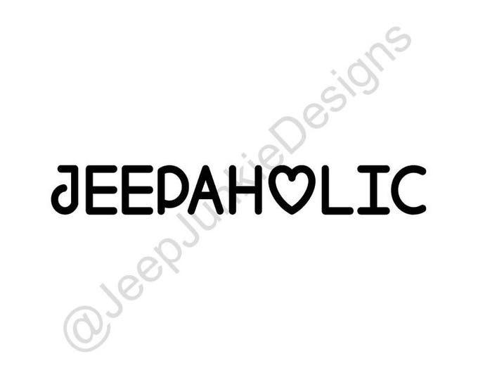 Jeepaholic Vinyl Decal