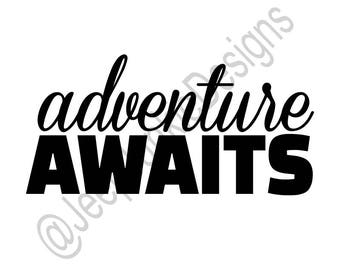 Adventure Awaits - Jeep Girl Vinyl Decal - Custom Vinyl Decals