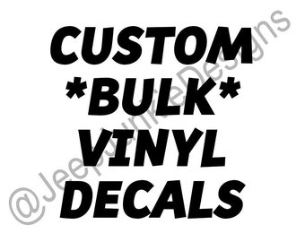 Custom BULK Vinyl Decals, Business Logos, Social Media Profiles, Marketing Decals, Business Vinyl Decals, Social Profile Decals, Vinyl Decal