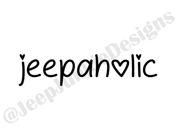 Jeepaholic - Jeep Custom Vinyl Decals