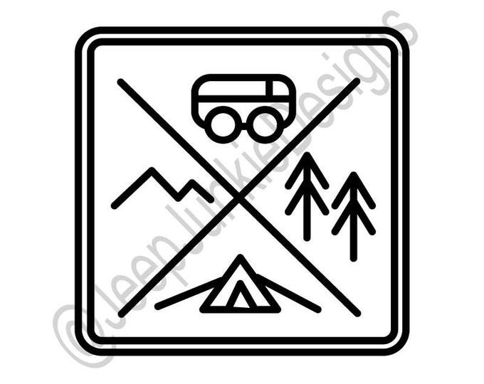 Simple Camping Logo Decal