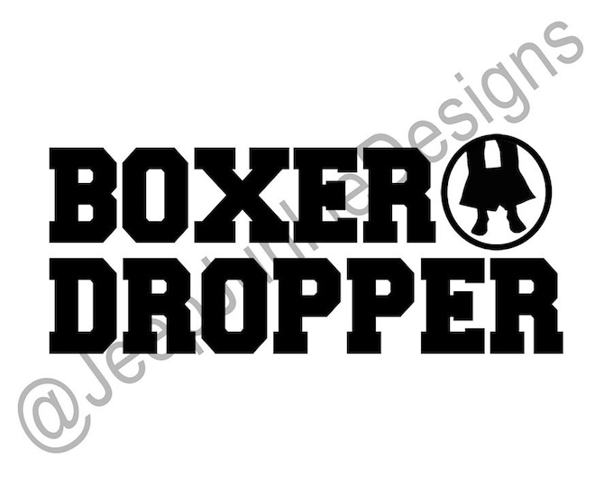 Boxer Dropper Vinyl Decal
