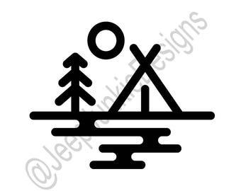 Campsite Logo Vinyl Decal