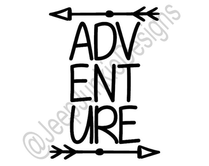 Adventure Arrows - Jeep Vinyl Decal - Custom Vinyl Decals